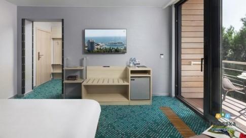 Стандартный улучшенный 3-местный с одной двуспальной кроватью и раскладным креслом, фото 3