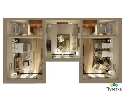 Семейный люкс 4-местный 3-комнатный, фото 6