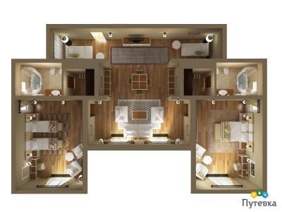 Семейный люкс 4-местный 3-комнатный, фото 7