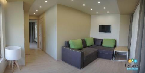 Люкс 4-местный 2-комнатный с видом на море, фото 3