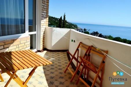 Сюит 4-местный 2-комнатный с балконом, море, 2-5-й этажи, фото 1